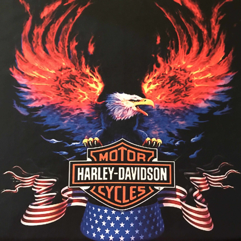 Xl Polyester Blend Fabric Fq Harley Davidson Motor