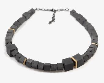 Unique Statement Necklace, Concrete Jewelry, Statement Necklace, Contemporary Jewelry, Designer Jewelry, Unique Necklaces For Women