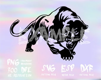 Panthers silhouette  ,Animal Silhouetteclipart,SVG,PNG 300dpi ,ESP vector