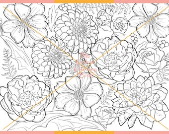 Download Floral Coloring Page