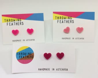 Small Roxie stud acrylic earrings - choose your colour
