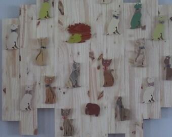 animal wall wooden panel