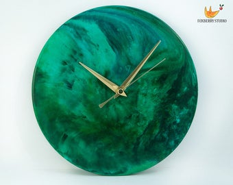 Made to Order ANY COLOUR UNIQUE Marbled Round Wall Clock