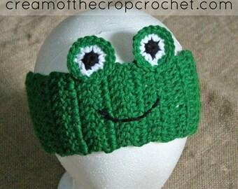 Frog Ear Warmers | Crochet Pattern | Crochet Frog Ear Warmers Pattern | Crochet Ear Warmers | Frog Ear Warmers Teens/Adult | PDF Pattern
