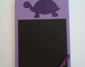 Purple turtle table to write with chalk