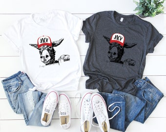 Jack with Hat, Donkey with Hat, Soft T Shirts-Multiple Color Options