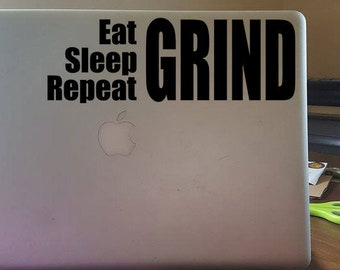 Motivational Laptop Decal - GRIND -