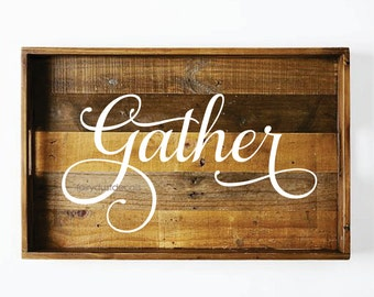 Gather wall decal, vinyl lettering, dining room decal, gather wall word, vinyl letters for home, kitchen wall, gather decal, wall stickers