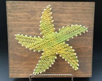 String Art Board: Starfish - [Made to Order], Cottage Decor, Wall Art, Home Decor, Aquatic, Beach House