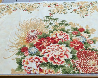 Asian Traditions-Vintage-Large Flowers Cotton Fabric from Robert Kaufman Fabrics