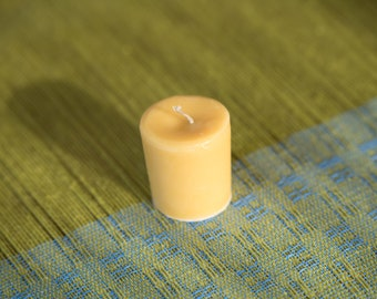 Hand Poured Beeswax Votive Candle