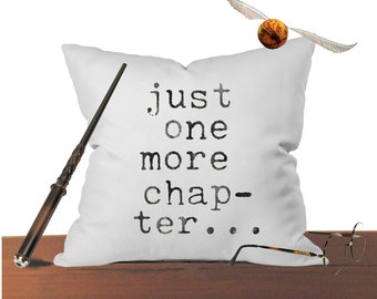 Harry Potter Reading pillow cover books throw pillow Graduation gift i like big books just one more chapter bed pillow harry potter pillow b