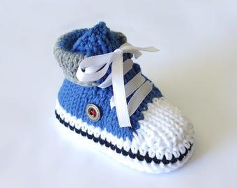 beskets baby (blue/gray, black line)