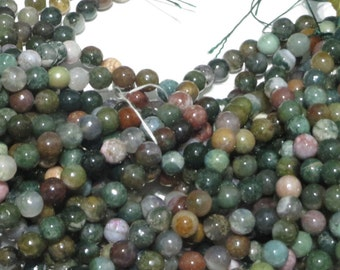 10 mm Faceted Green Multi Color Agate