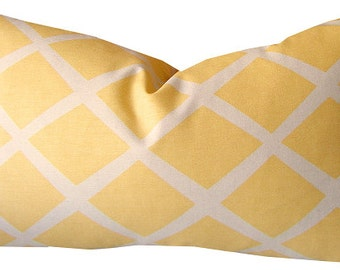 Yellow Pillow - Serena and Lily - Yellow Throw Pillow - Yellow Decorative Pillow -  Yellow Lumbar Pillow - Cotton Pillow - PILLOW COVER ONLY