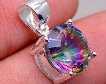 Beautiful Rainbow Topaz in 925 Sterling Silver