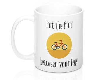 Funny Mountain Biking Mug, Road Biking Mugs, Bike Mug, Bicycle Mug, Cycling Mug, Gifts for cyclists, Valentine's Day, Birthday Gift Ideas