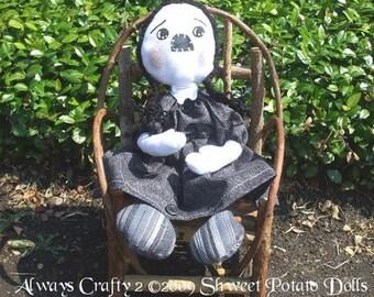 Raggedy Wednesday Cloth Doll PDF Digital  ePattern Instant Download