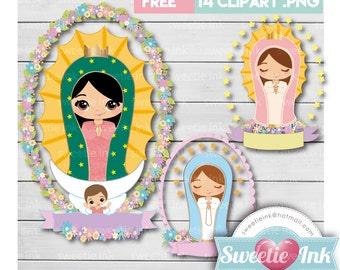 Virgin Clipart Digital Kawaii  1