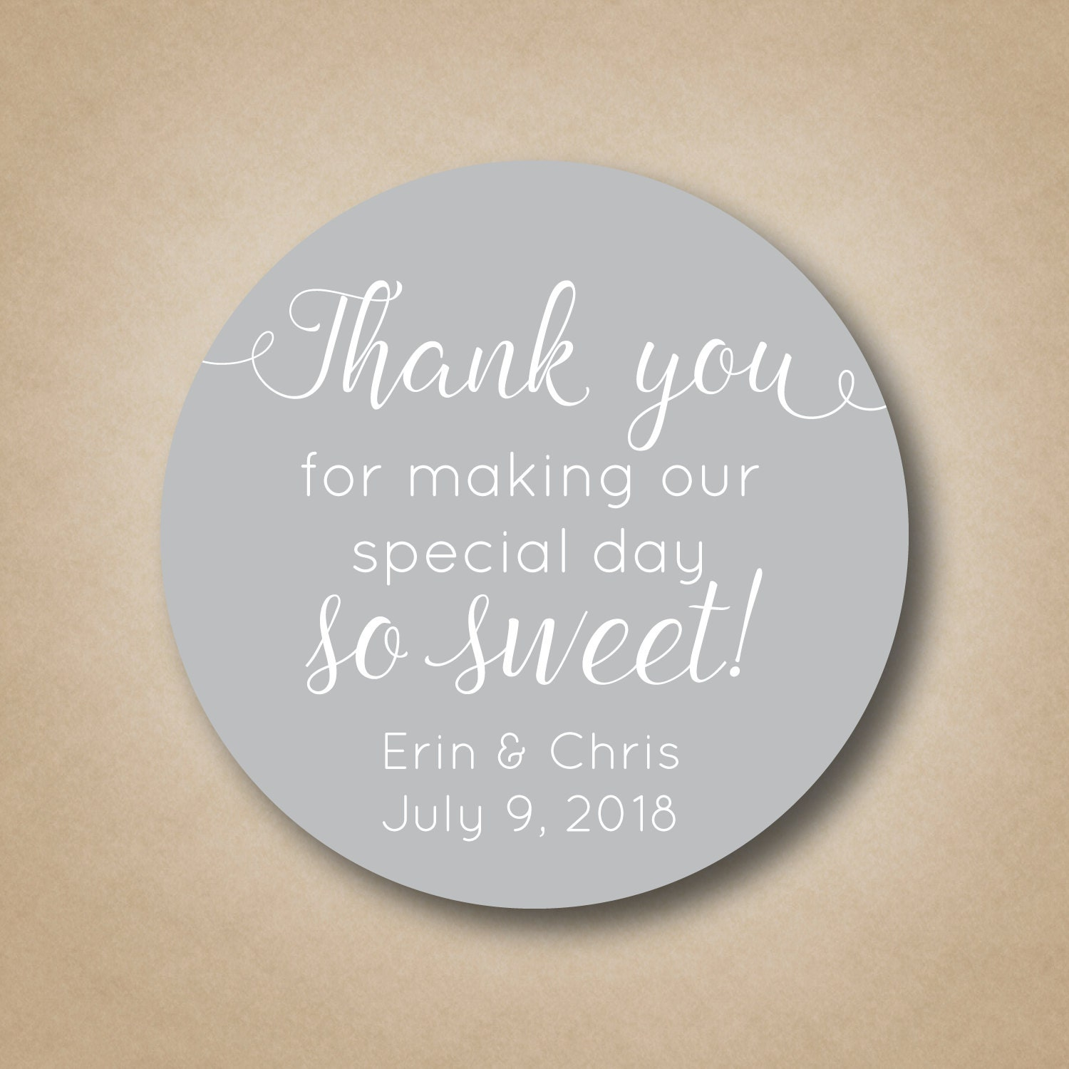 Thank You For Making our Special Day So Sweet Wedding Stickers ...