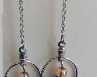 Long Chain Earrings With Pearls