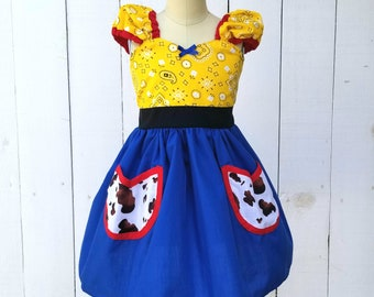 Jessie Toy Story Costume, Jessie dress, Cowgirl dress, Jessie toy story dress, Halloween costume, cowgirl birthday outfit, Toy Story Jessie