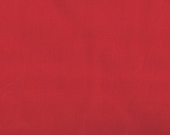 Red Fabric, Turkey Red Fabric, Solid Red Fabric, Blank Quilting, 00390