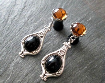 Victorian Dangle Plugs - 10g - 8g - 6g - 4g - 2g - 0g - Drop Gauges - Made to Order Plug Earrings