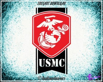 USMC, Marines, Cut Files, EPS, SVG, Png, Vector