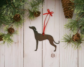 Customizable Whippet Christmas Tree Ornament | Personalized Dog Ornament