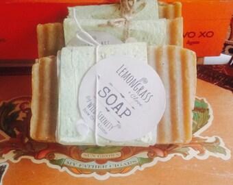 Lemongrass soap / handmade soap / vegan soap/ Shea butter soap / palm free soap / anti-fungal soap/ energizing soap / athletes foot soap/