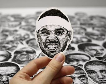 Scribbled Carmelo Anthony - Vinyl Sticker