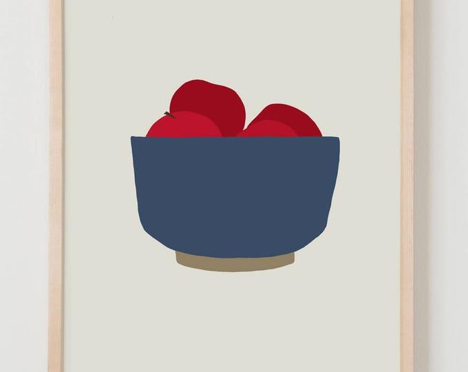 Fine Art Print.  Bowl of Apples. October 1, 2012.