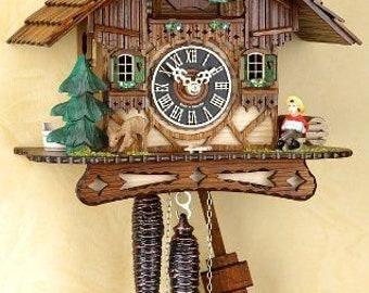 Black Forest Cuckoo clock Mechan. 1 day, chain-bub music-Cuckoo clock