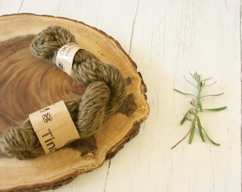 Wool, nylon twist DK, double knit, Hand Dyed, plant dyes, natural dyes, red onion skins, iron, olive green