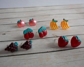 Fruit ear studs