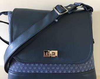 Messenger , blue bag , Scandi bag , leather bag ,handmade bag ,satchel ,