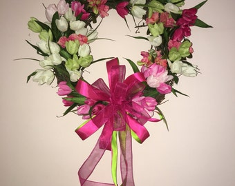 Spring Wreath, Summer Wreath, Tulips