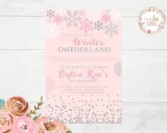 Winter ONEderland Invitation