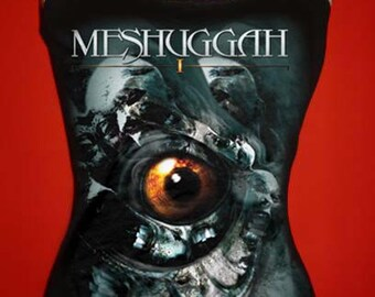 MESHUGGAH diy halter top  tank top rock metal girly band  I shirt  xs s m l xl