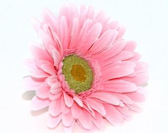 Pink Gerbera Daisy - Artificial Flowers, Silk Flower Heads - PRE-ORDER