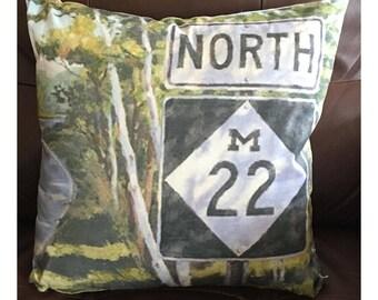 Michigan M22 Throw Pillow