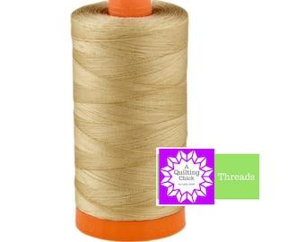 50wt Aurifil Sand 100% Cotton Mako SPOOL Thread Aurifil #MK50-2326