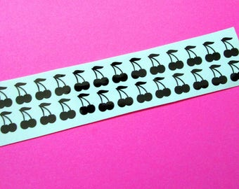 Cherry nail decals, nail stickers, nail art decals