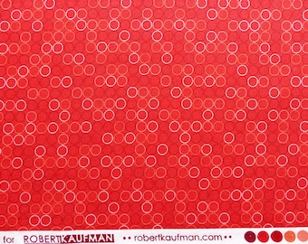 red fabric, red cotton fabric, bright red fabric, red fabric with dots