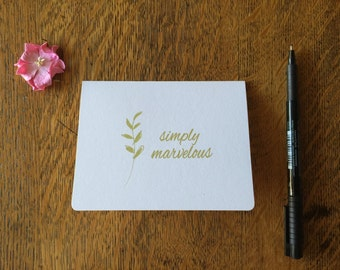 Simply Marvelous Thank You or Congratulations Notecards - Wedding Thank You Cards - Blank Inside