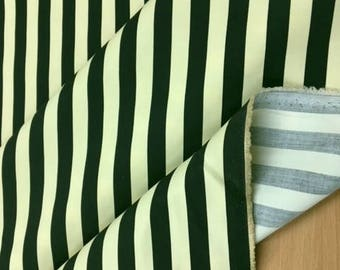 Black & Cream Twill Stripe Blind Curtain Upholstery Cushions Headboards Crafting Fabric Material 1.5M WIDE