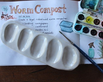 SECONDS SALE - Paint Palette, for watercolor or acrylic, travel size, mini, portable