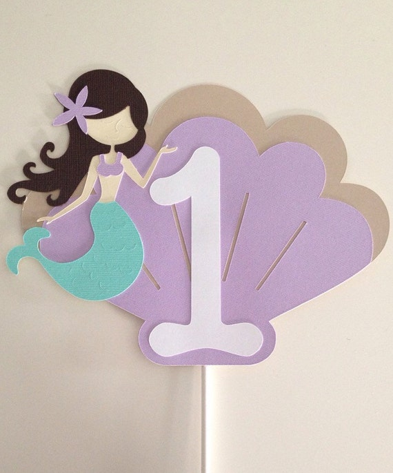 mermaid cake topper mermaid cake topper aqua amp lavender cake topper smash cake 5834