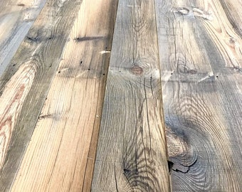 """5"""" Reclaimed Wood Planks from Reclaimed Snow Fence Wood - Cheyenne Finish"""